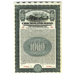 Chicago and Alton Railway Co., 1912 Specimen Bond