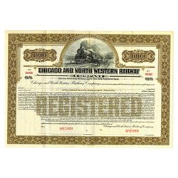 Chicago and North Western Railway Co., 1920 Specimen Bond