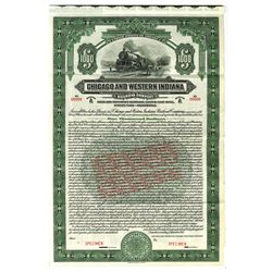 Chicago and Western Indiana Railroad Co., 1912 Specimen Bond