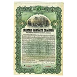 Chicago Railways Co., 1907 Specimen Bond