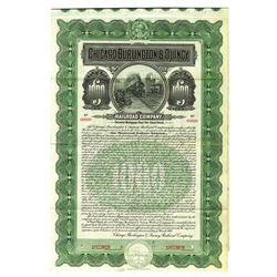 Chicago, Burlington and Quincy Railroad Co., 1908 Specimen Bond