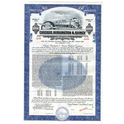Chicago, Burlington and Quincy Railroad Co., 1958 Specimen Bond