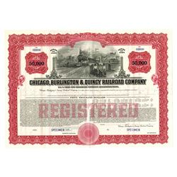 Chicago, Burlington and Quincy Railroad Co., ca.1980-1970 Specimen Bond