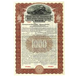 Chicago, Saint Paul, Minneapolis and Omaha Railway Co Equipment Trust of 1917, Specimen Bond