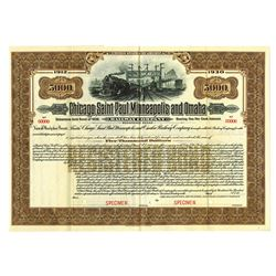 Chicago, Saint Paul, Minneapolis and Omaha Railway Co., 1912 Specimen Bond