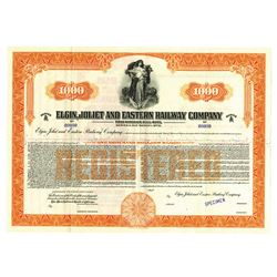 Elgin, Joliet and Eastern Railway Co., ca.1920 Specimen Bond