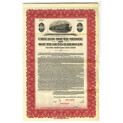 Chicago South Shore and South Ben Railroad, 1925 Specimen Bond