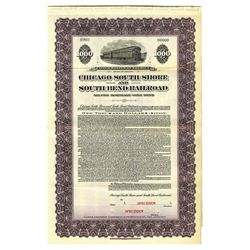 Chicago South Shore and South Bend Railroad, 1925 Specimen Bond