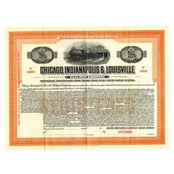 Chicago, Indianapolis and Louisville Railway Co., 1914 Specimen Bond