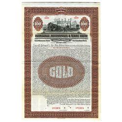 Evansville, Indianapolis and Terre Haute Railway Co., 1920 Specimen Bond