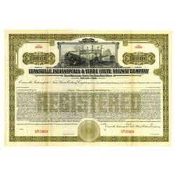 Evansville, Indianapolis and Terre Haute Railway Co., ca.1900-1910 Specimen Bond