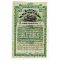 Peoria, Decatur and Evansville Railway Co., 1886 Specimen Bond.