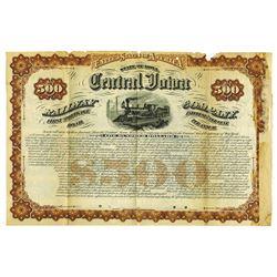 Central Iowa Railway Co., 1879 Specimen Bond