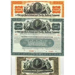 Chicago, Rock Island and Pacific Railway Co., ca.1888-1898 Bond Trio