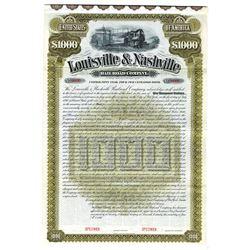Louisville and Nashville Railroad Co., 1890 Specimen Bond
