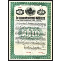 Cincinnati, New Orleans and Texas Pacific Railway Equipment Trust, 1918 Specimen Bond.