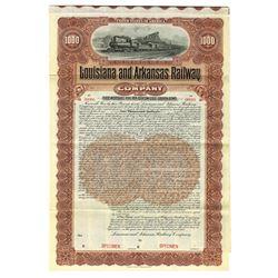Louisiana and Arkansas Railway Co., 1902, Specimen Bond