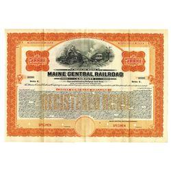 Maine Central Rail Road Co., 1915 Specimen Bond