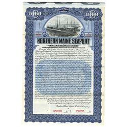 Northern Maine Seaport Railroad Co., 1905 Specimen Bond