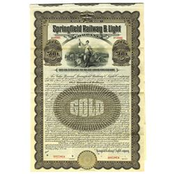 Springfield Railway and Light Co., 1911 Specimen Bond