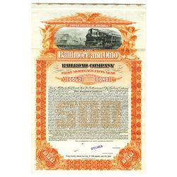 Baltimore and Ohio Railroad Co., 1898 Specimen Bond