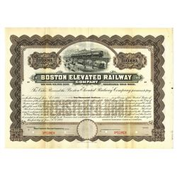 Boston Elevated Railway Co., 1923 Specimen Bond