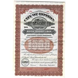 City of Boston, 1923 Specimen Bond
