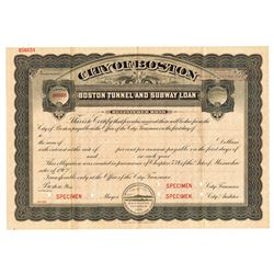 City of Boston, ca.1890-1910 Specimen Bond
