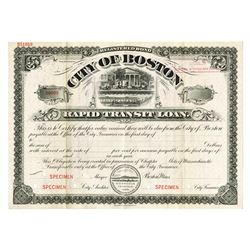 City of Boston, ca.1900-1910 Specimen Bond