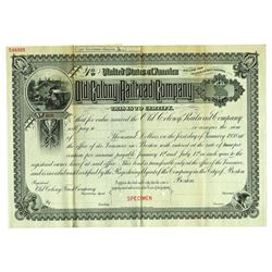 Old Colony Railroad Co., 1888 Specimen Bond