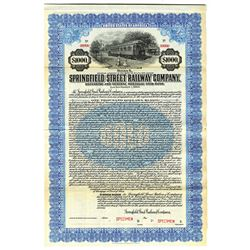 Springfield Street Railway Co., 1920 Specimen Bond