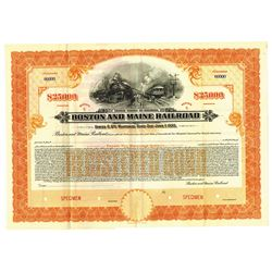 Boston and Maine Railroad, 1930 Specimen Bond