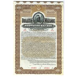 Duluth, Missabe and Northern Railway Co., 1906 Specimen Bond