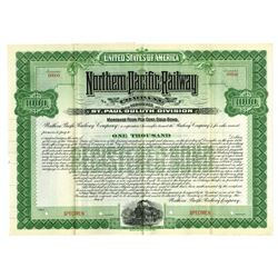 Northern Pacific Railway Co., St. Paul Duluth Division, 1900 Specimen Bond