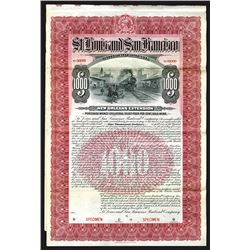 St. Louis and San Francisco Railroad Co., New Orleans Extension 1902 Specimen Bond