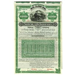 St. Louis, Salem and Arkansas Railway Co., 1887 Specimen Bond