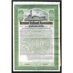 Terminal Railroad Association of St. Louis, 1903 Specimen Bond