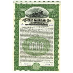 Erie Railroad Co. - Erie and Jersey Railroad Co., 1905 Specimen Bond