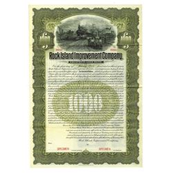 Rock Island Improvement Co., 1905 Specimen Bond