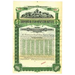 Broadway and Seventh Avenue Railroad Co., 1893 Specimen Bond