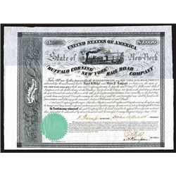 Buffalo Corning and New York Rail Road Co., 1852 Bond.