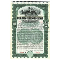 Buffalo, Lockport and Rochester Railway Co., 1904 Specimen Bond.