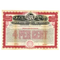 Erie Railroad Co., 1901 Specimen Bond