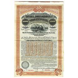 Fonda, Johnstown and Gloversville Railroad Co., 1902 Specimen Bond