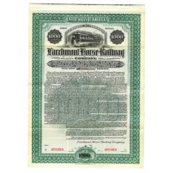 Larchmont Horse Railway Co., 1901 Specimen Bond