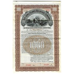 Long Island Railroad Co., 1903 Specimen Bond