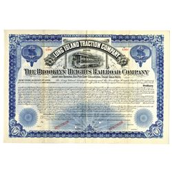 Long Island Traction Co. & Brooklyn Heights Railroad Co., 1894 Specimen Bond