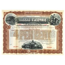 Nassau Electric Railroad Co., 1901 Specimen Bond