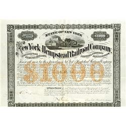 New York and Hempstead Railroad Co., 1871 Issued Bond.