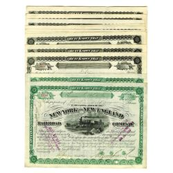 New York and New England Railroad Co., ca.1880-1888 Group Lot